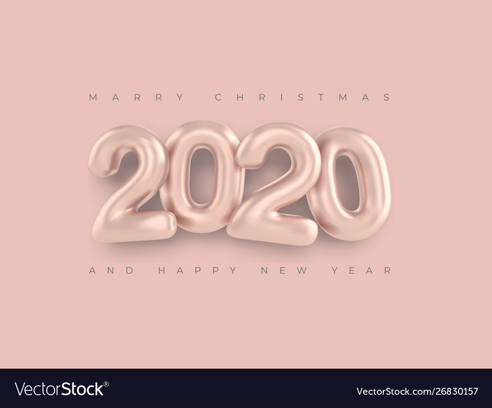 Merry christmas greetings and happy new year 2020