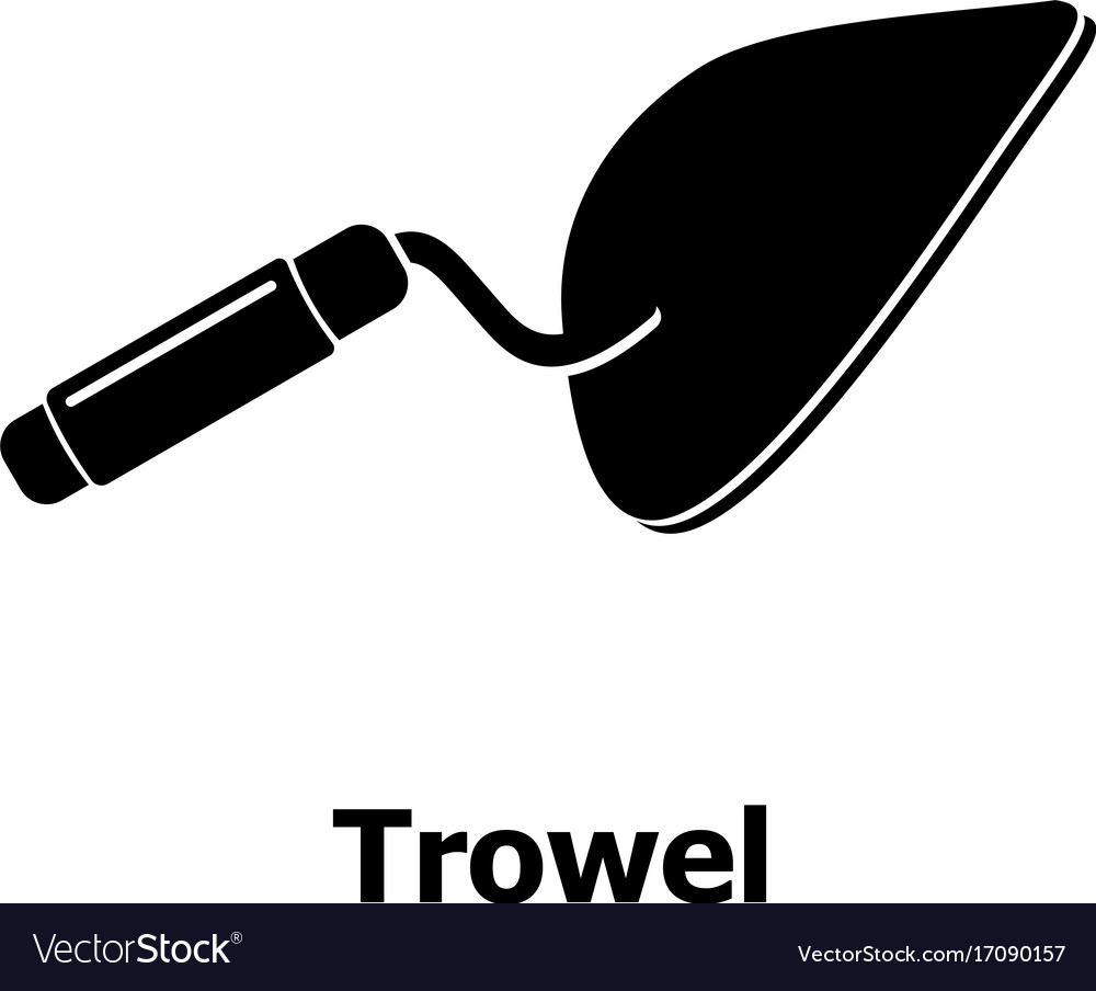 Trowel icon simple black style vector image