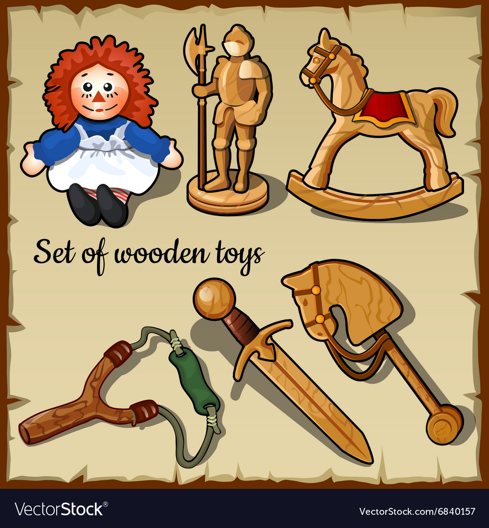 Wooden toys for all children play set