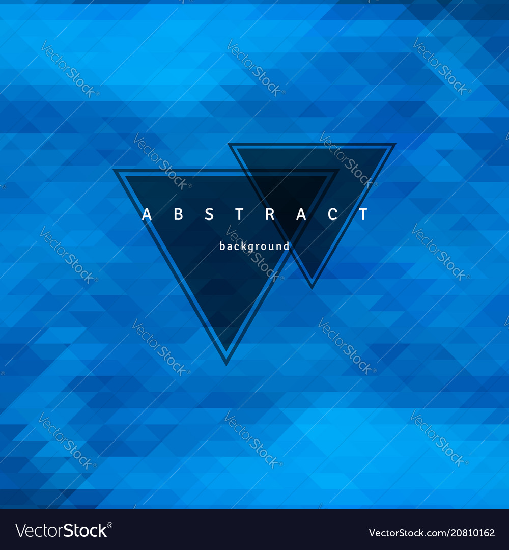 Abstract triangle background mosaic design
