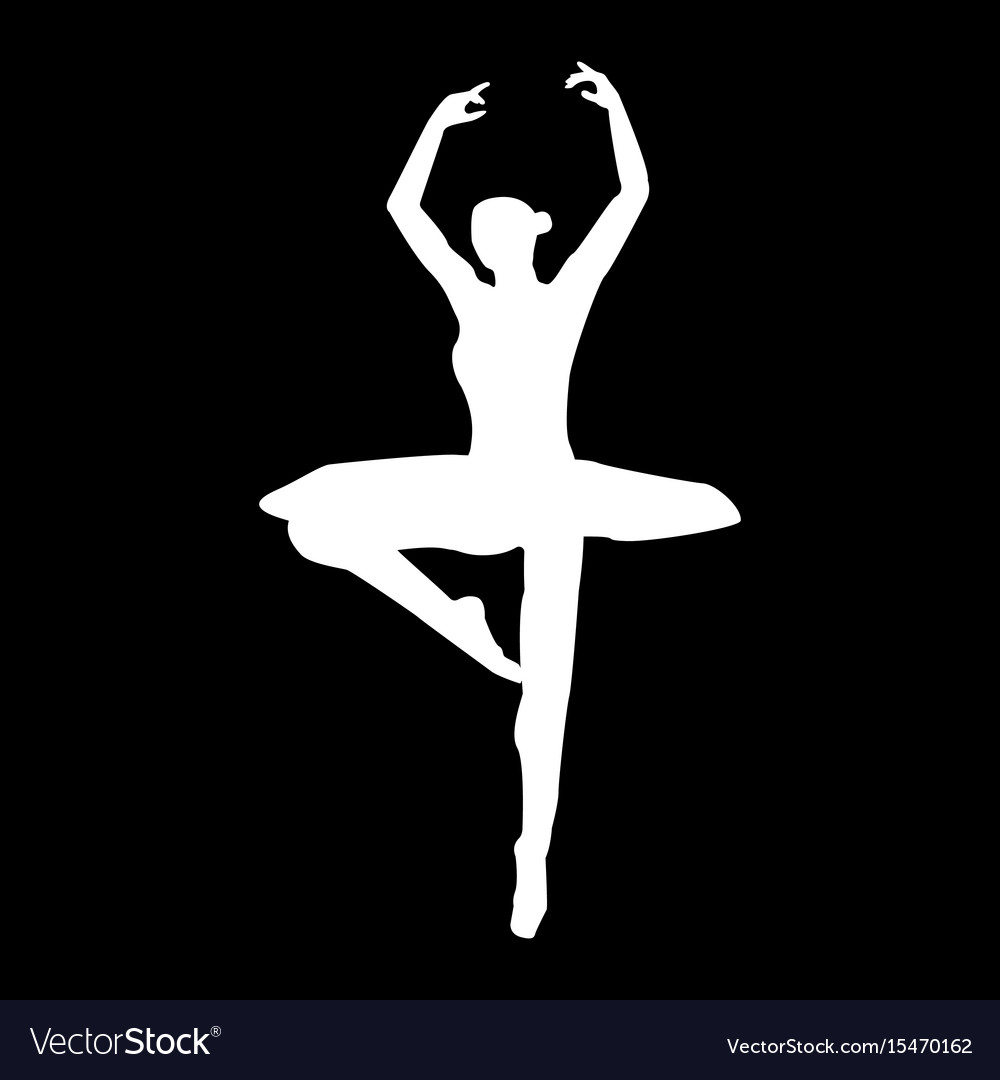 Ballet dancer it is the white color icon vector image