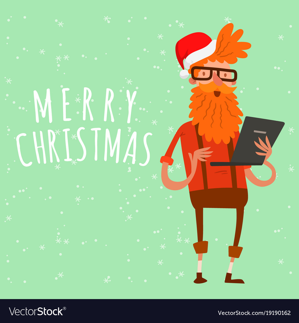 Christmas Greeting Card Business People Royalty Free Vector