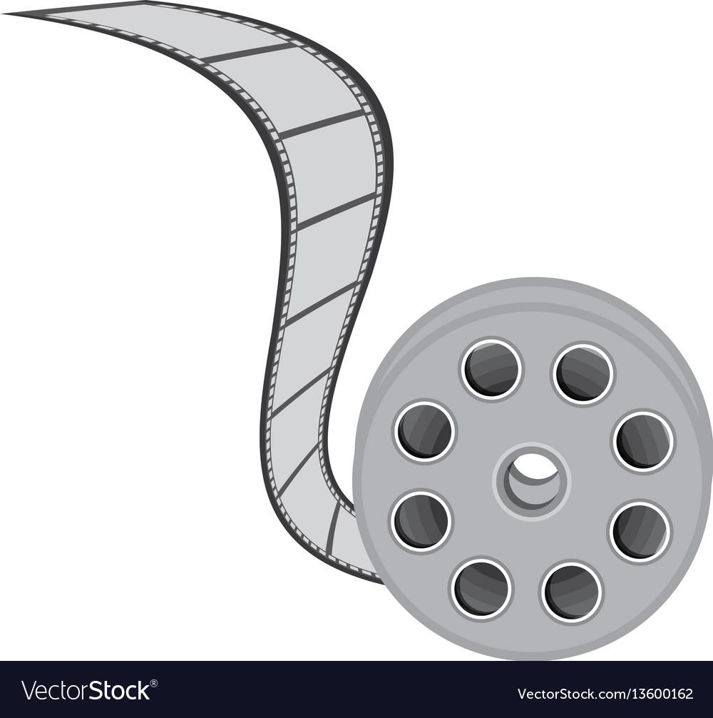 Color movie film clipart icon vector image