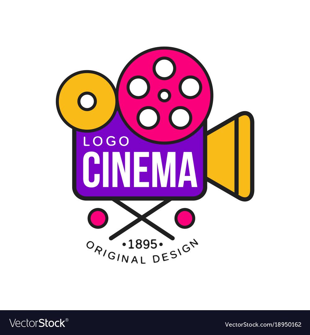Colorful cinema or movie company logo design with