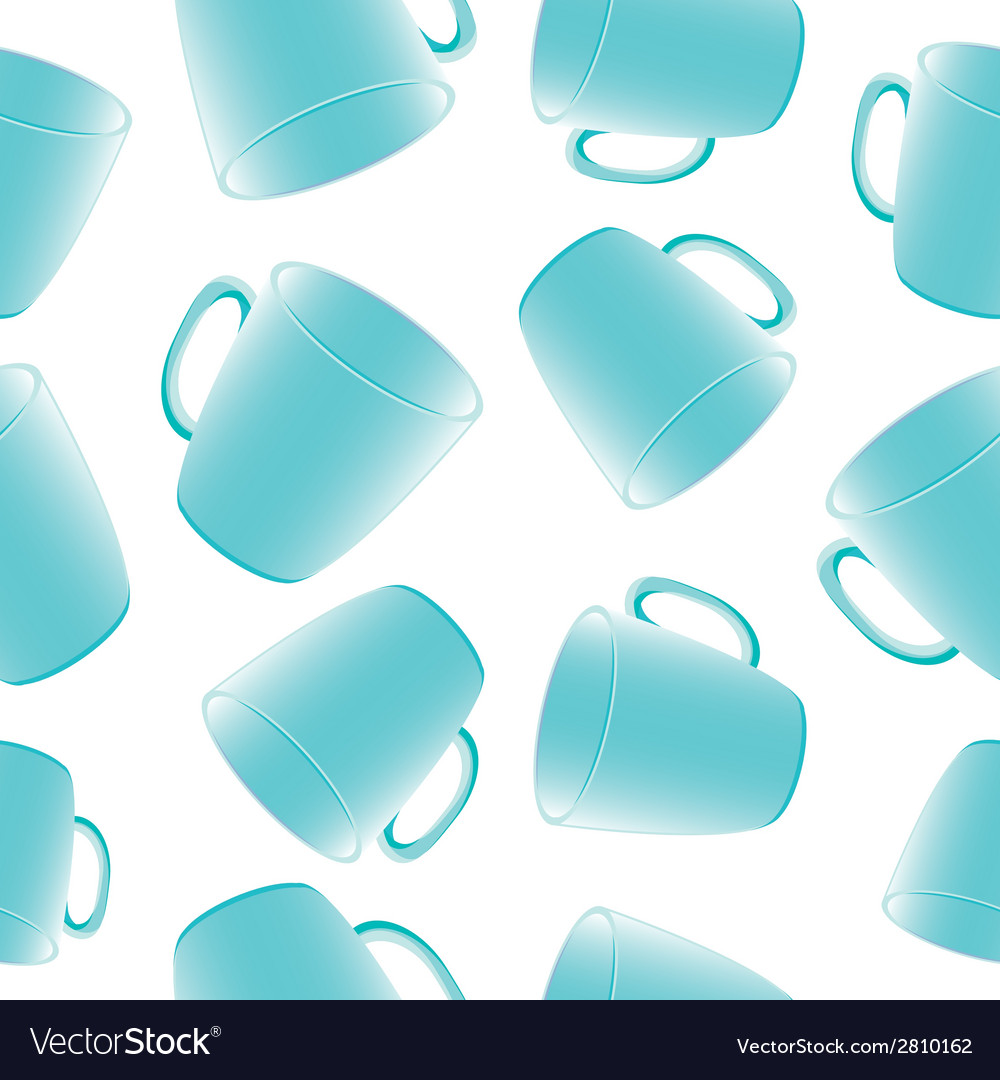 Cups seamless background Template for design