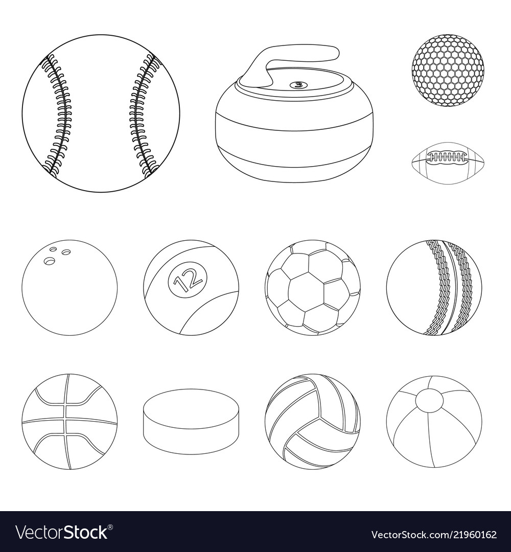 Design of sport and ball symbol collection