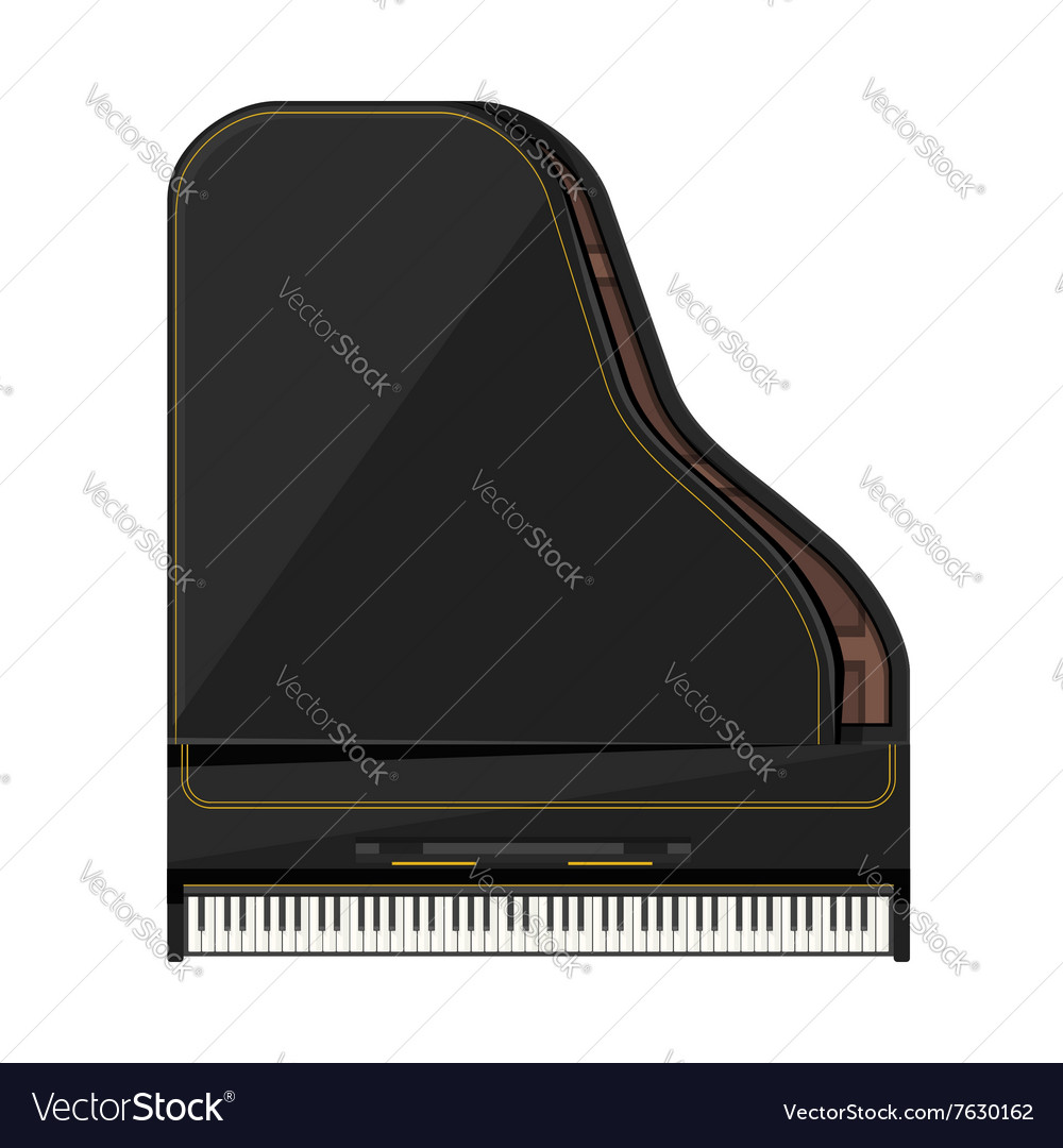 Flat style grand piano vector image