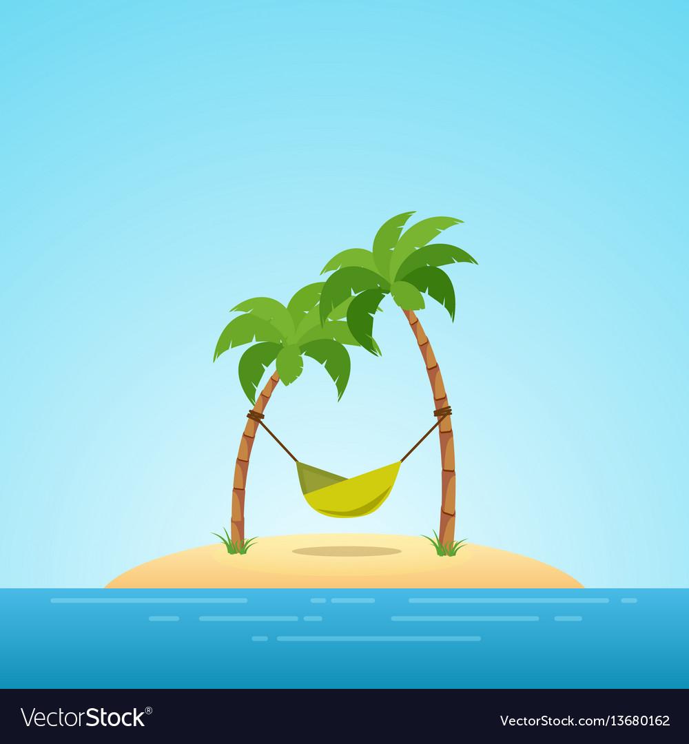 Paradise in hawaii tropical island in the sea