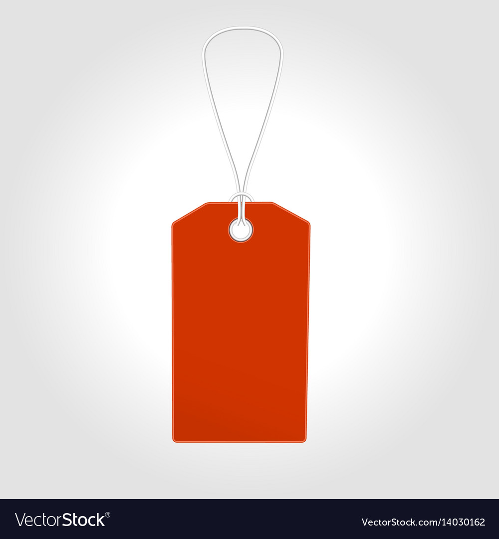 Red tag label with sale design vector image