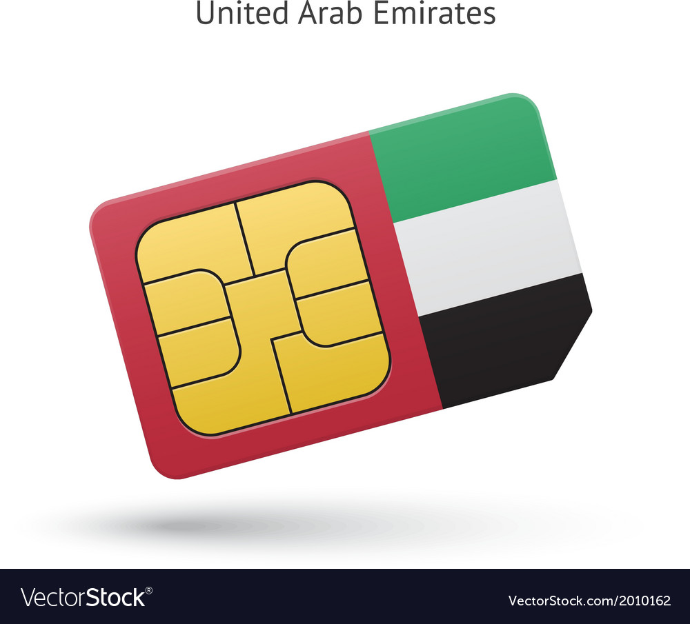 United Arab Emirates mobile phone sim card with