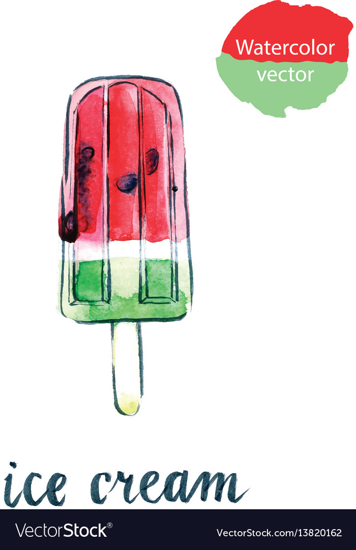 Watermelon ice cream