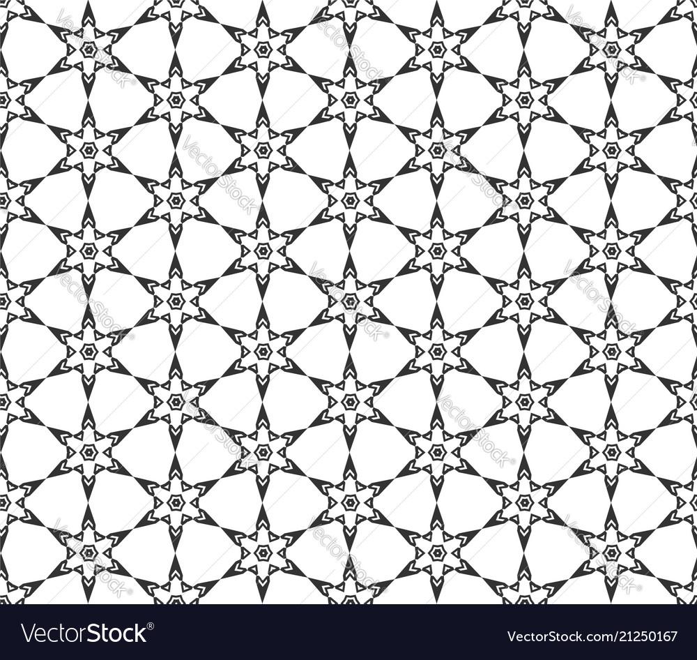 Abstract star geometric seamless pattern
