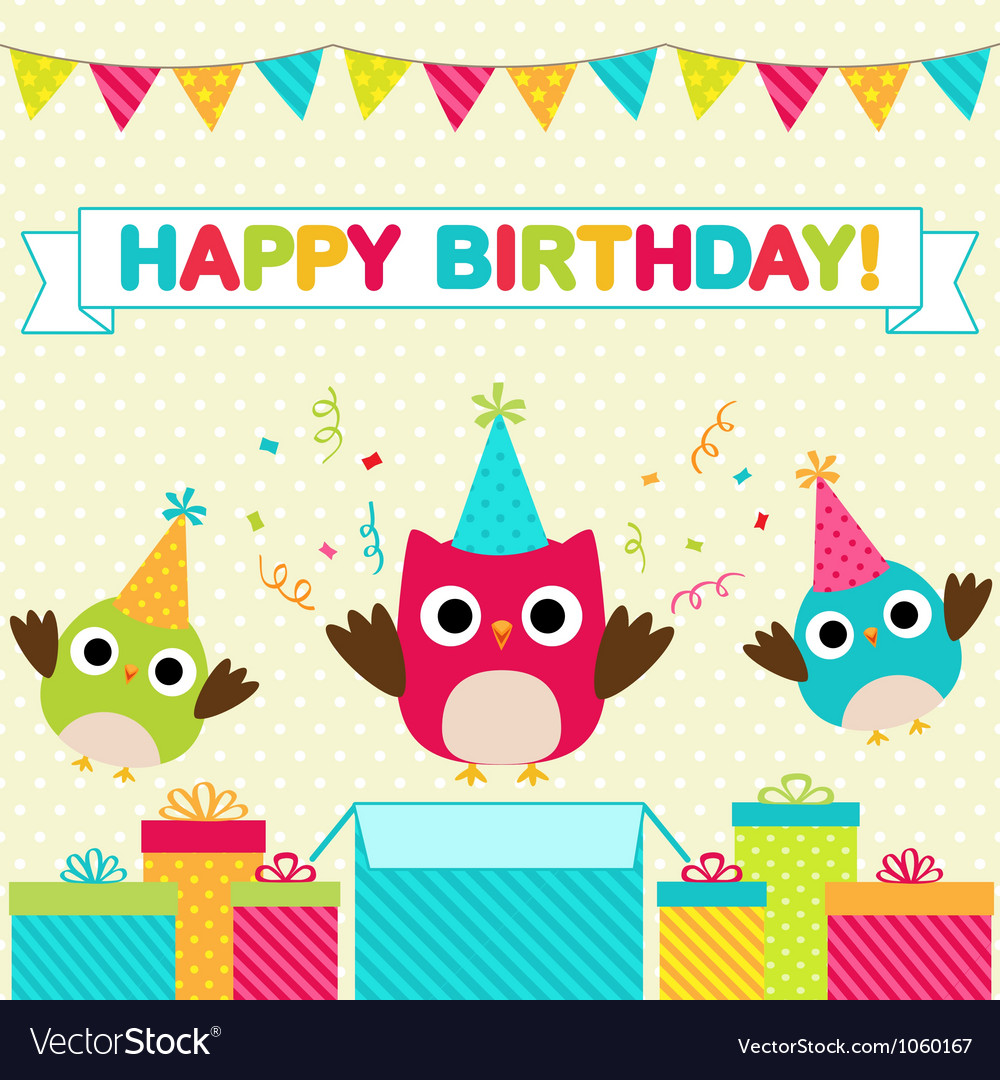 Birthday Party Card Royalty Free Vector Image