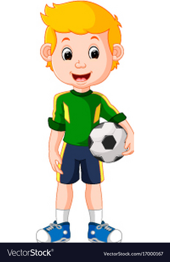 cartoon male soccer player royalty free vector image