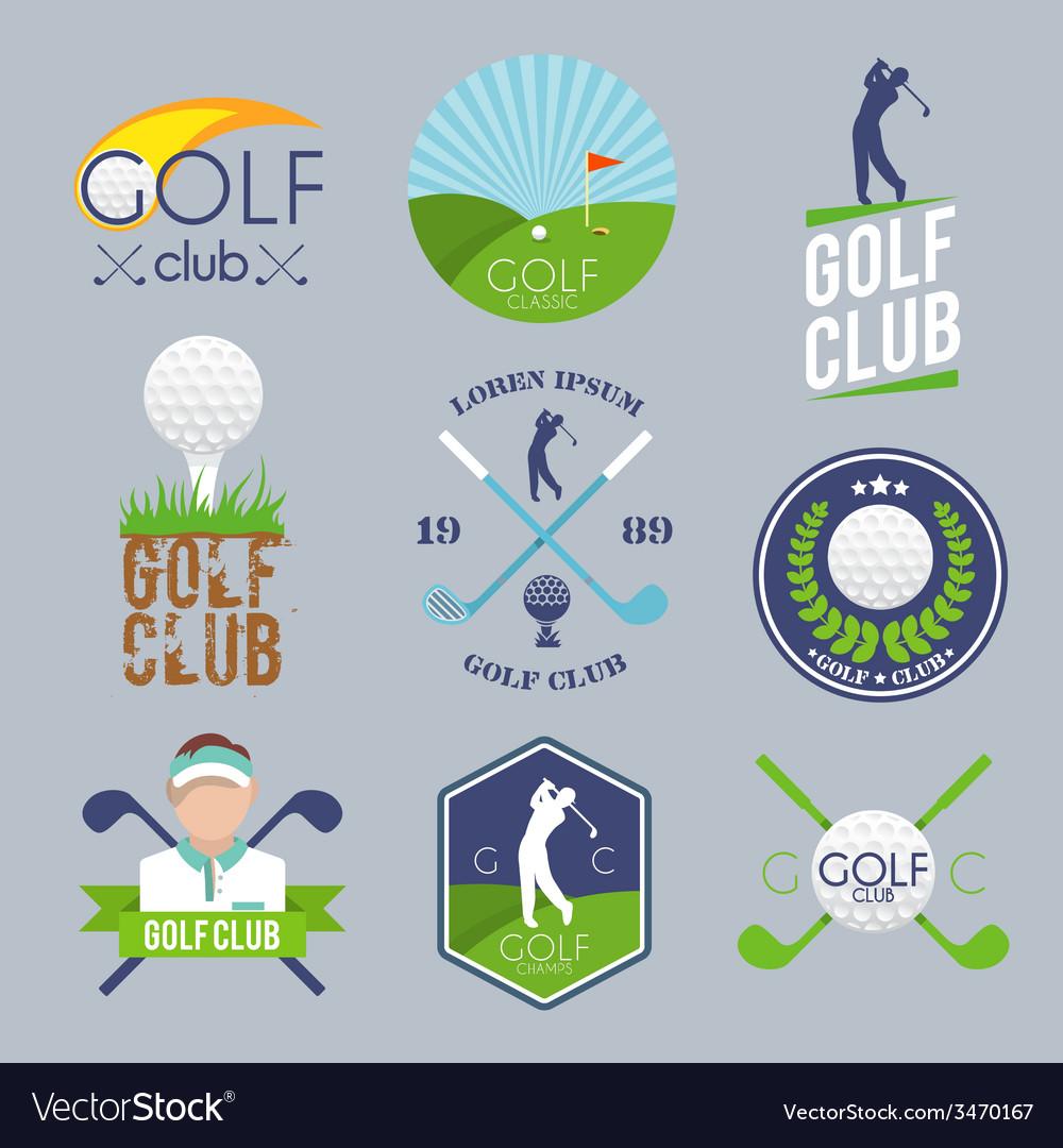 Golf label set vector image