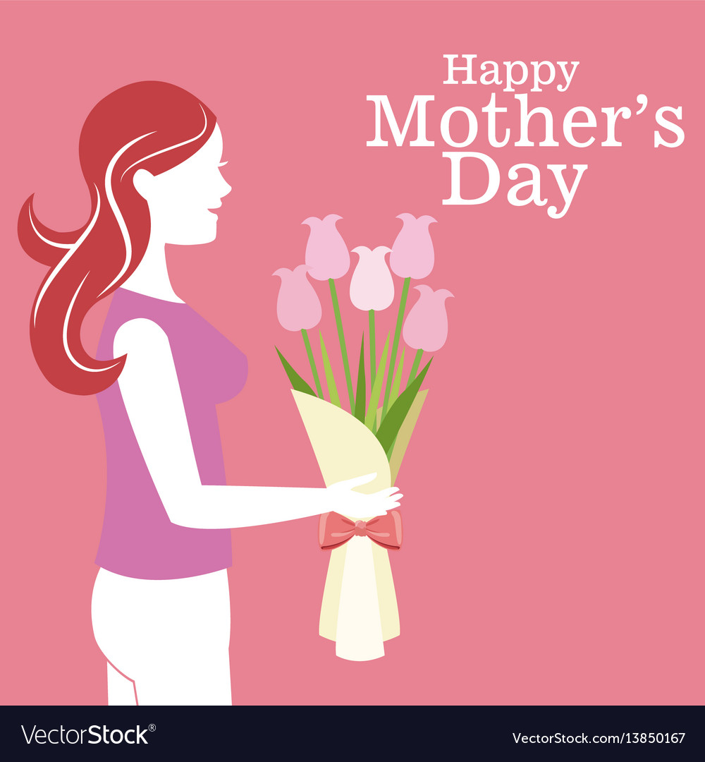 Happy mothers day - mother bouquet flowers