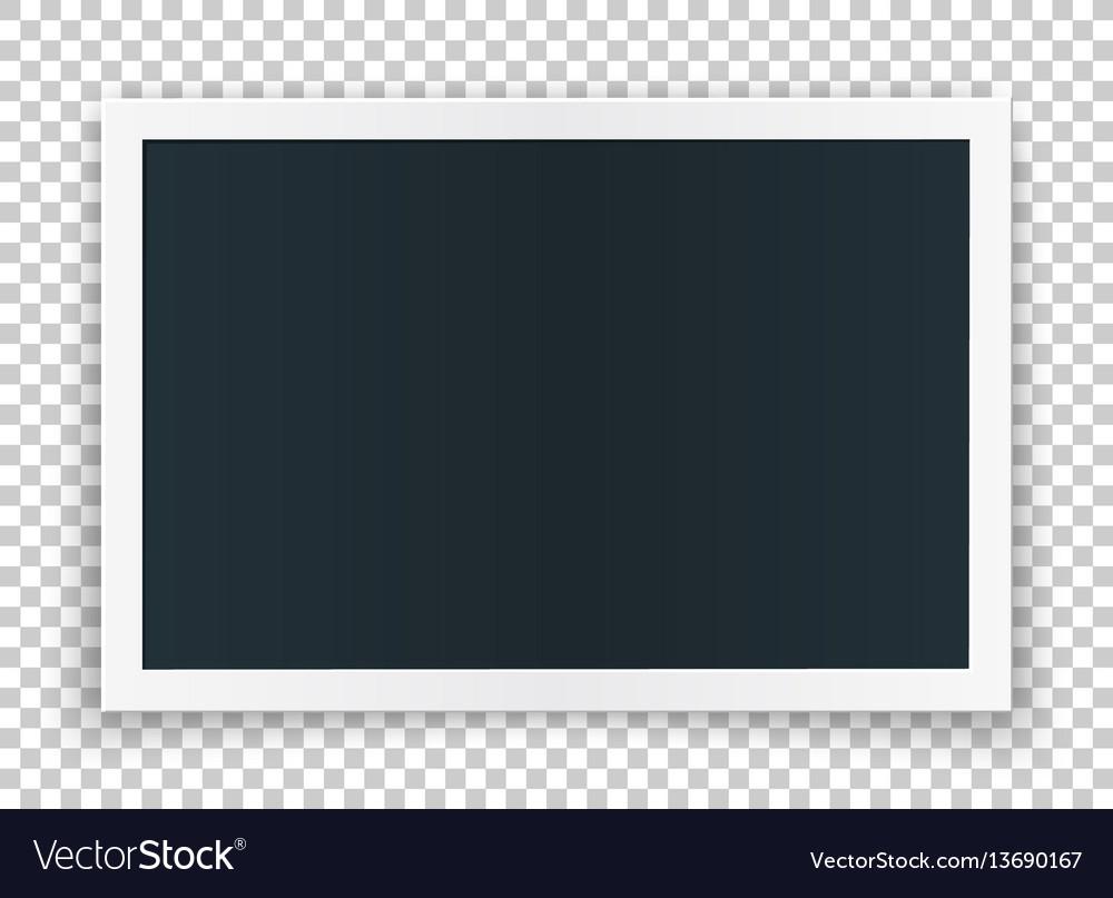 Horizontal photo frame concept isolated on