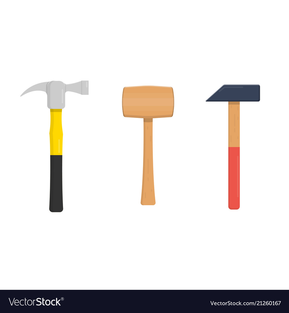 Set of hammers vector image