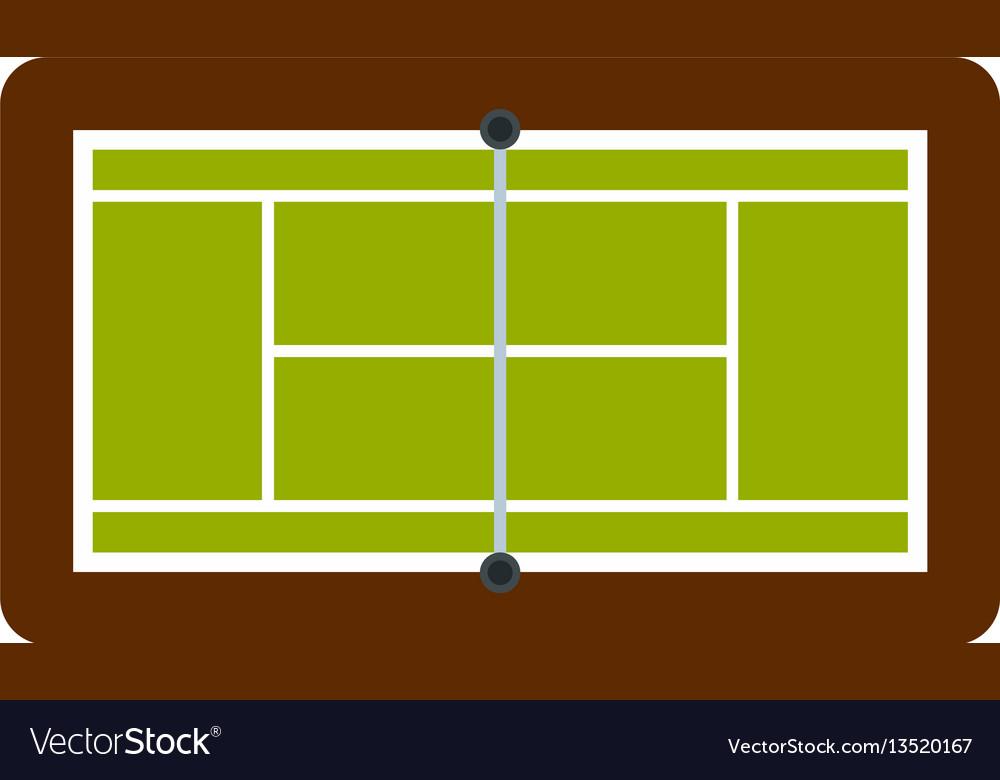 Tennis court icon flat style