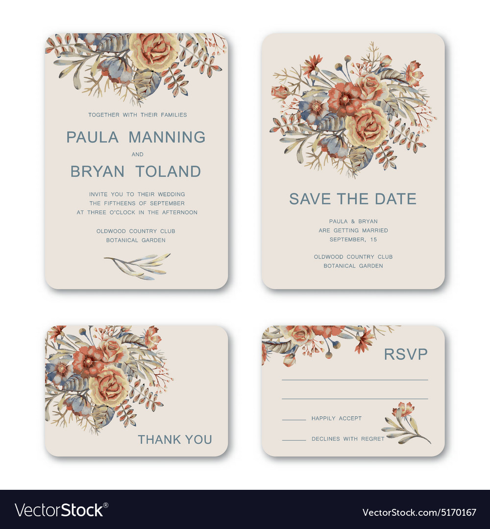 Wedding Invitations Royalty Free Vector Image - VectorStock