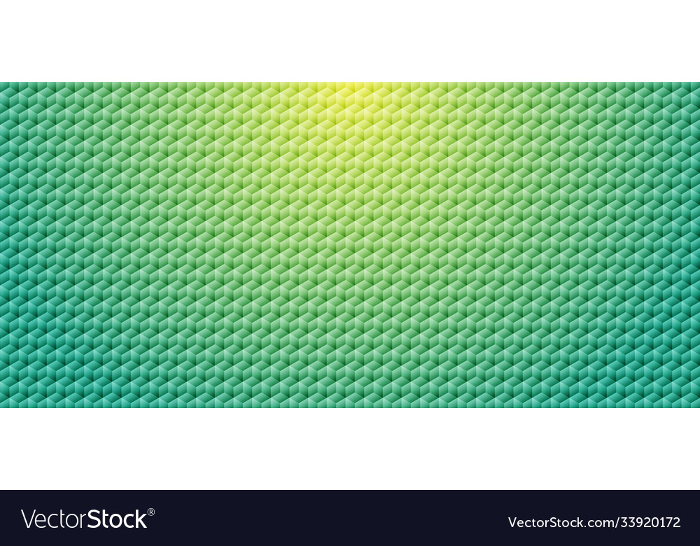 Abstract green gradient color geometric cube