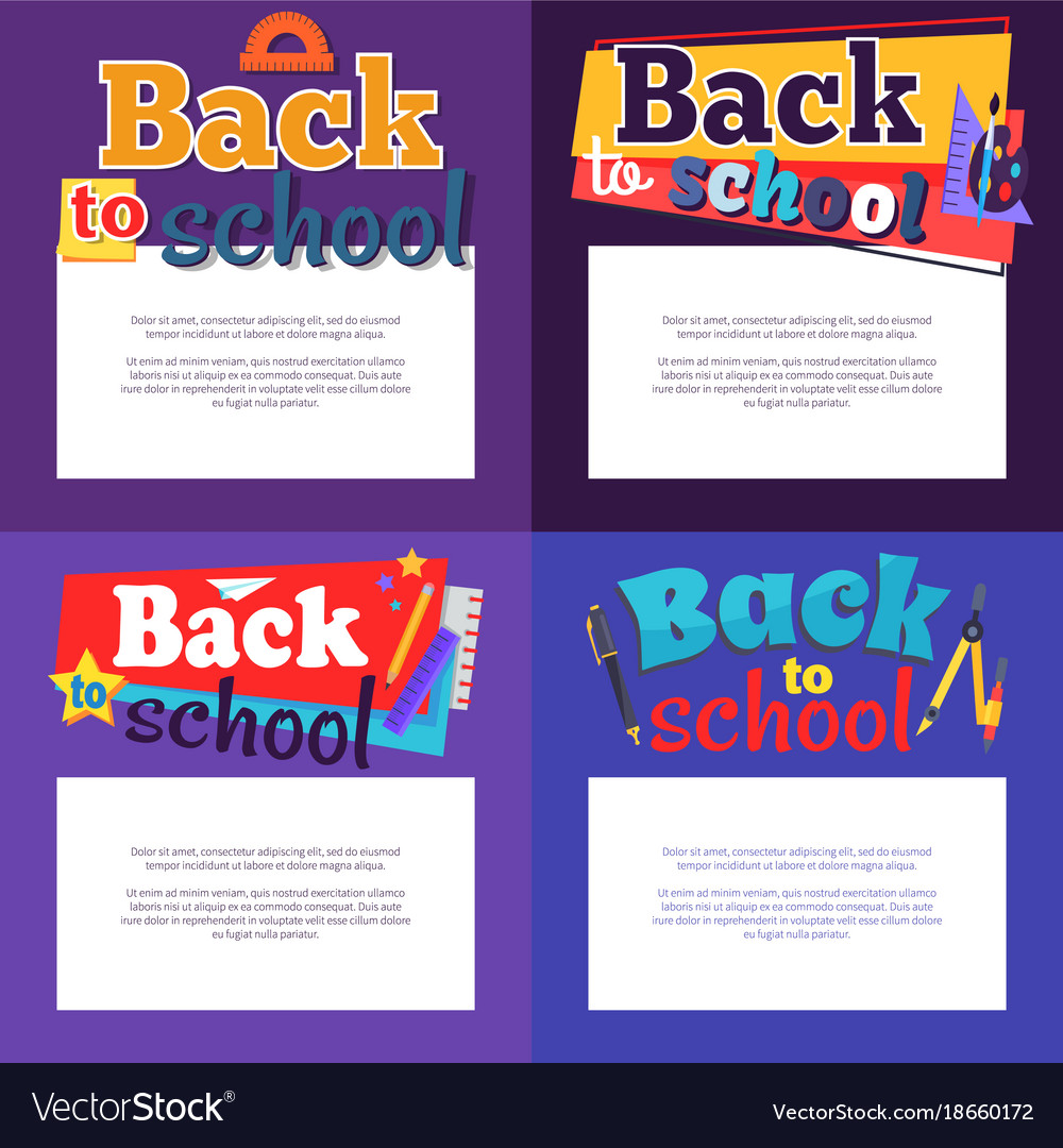Back to school poster with place for text in frame