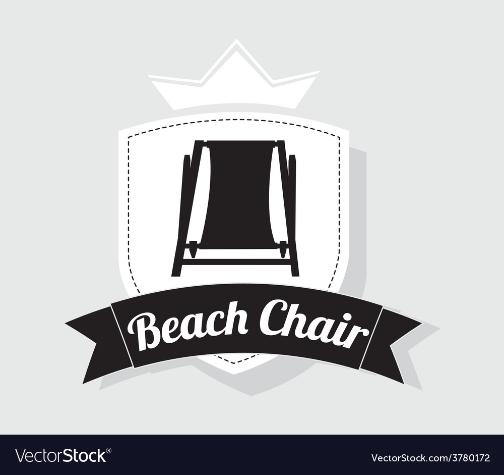 Beach chair design vector image