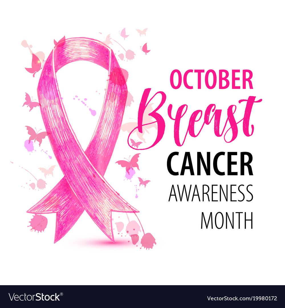 Breast cancer banner october awareness month