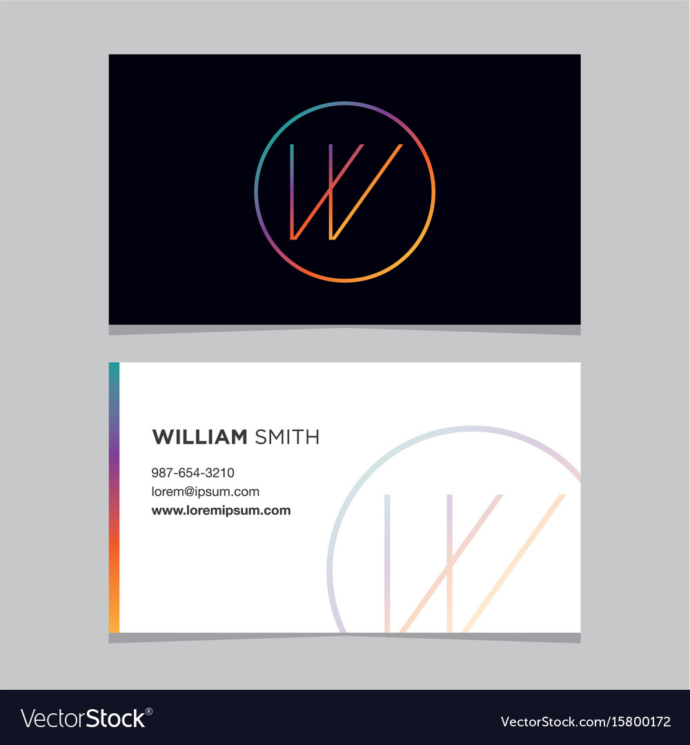 Business-card-letter-w