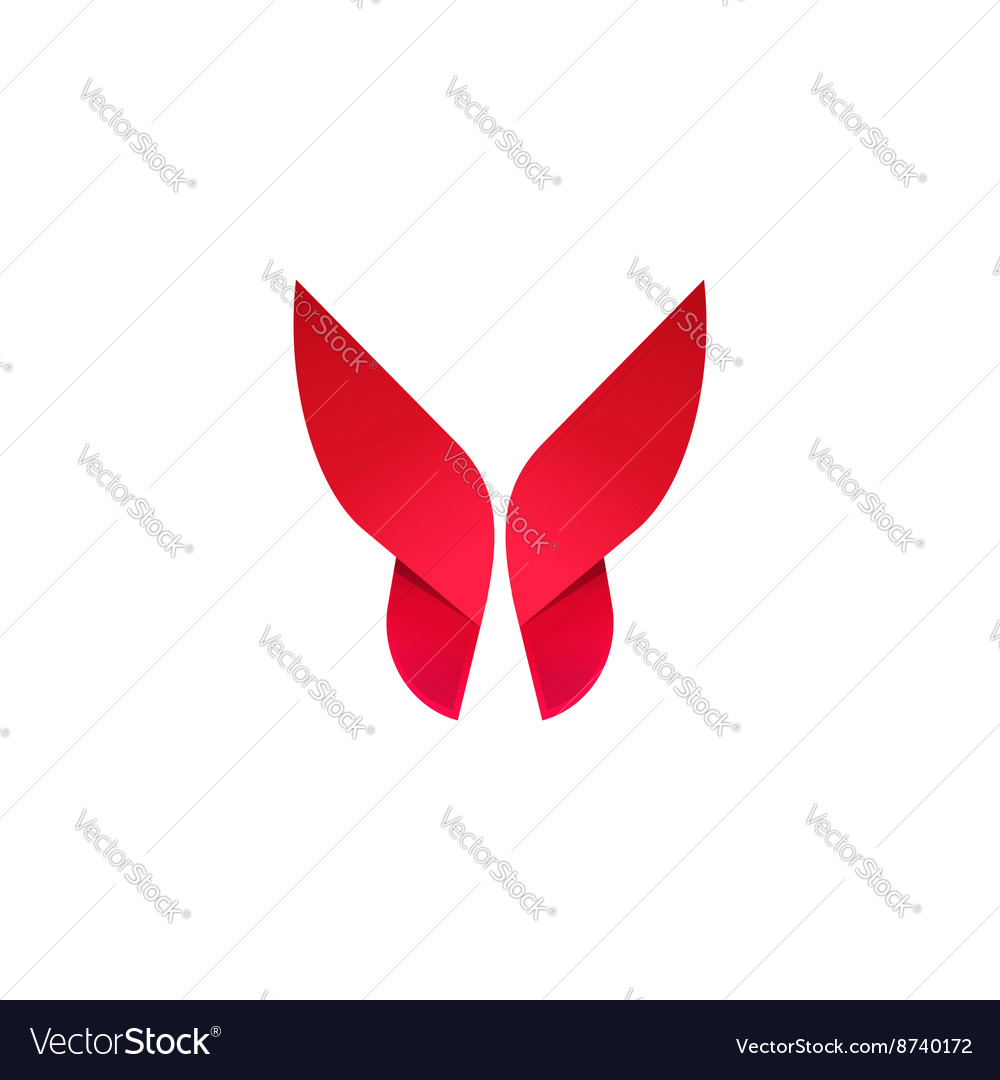 Butterfly beautiful modern logo vector image