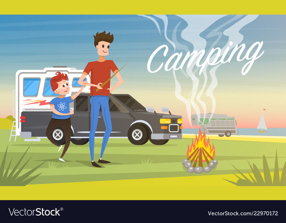 Camping holidays travel with the family in the
