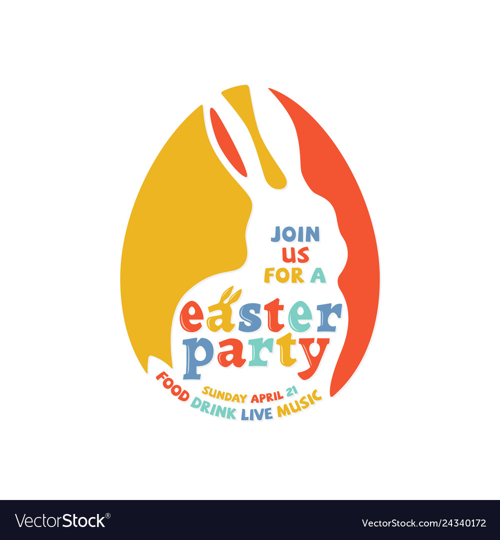 Colorful easter party lettering