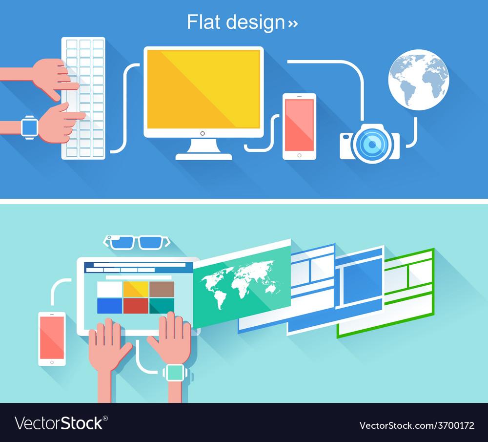 Flat design concept