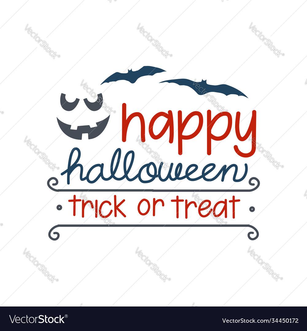 Happy halloween halloween emblem with horror