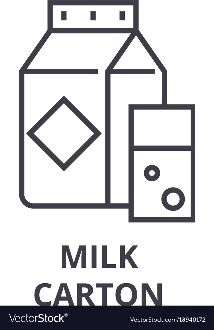 Milk carton line icon outline sign linear symbol