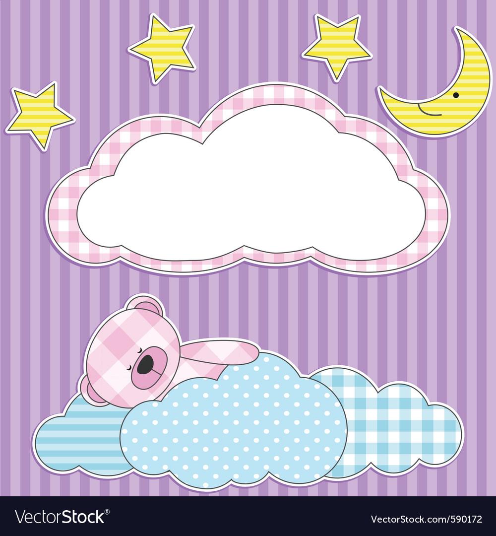 Sleeping pink bear