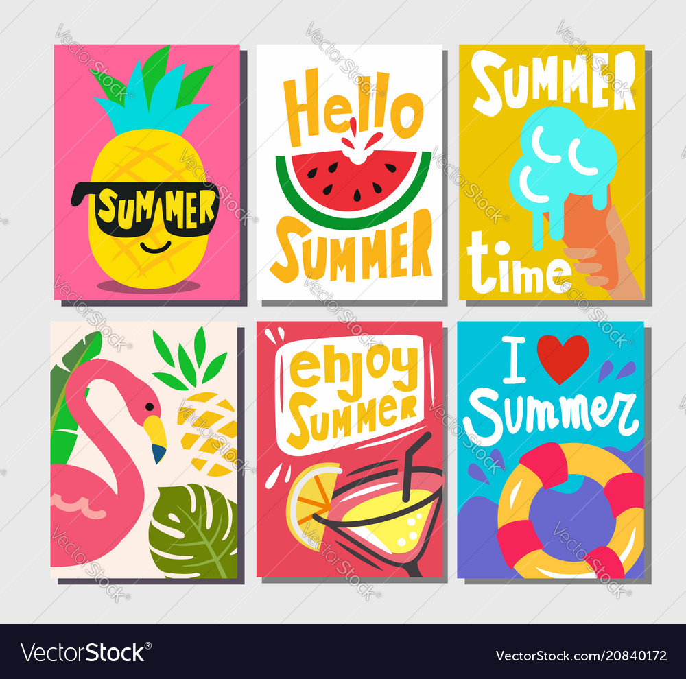 Summer themed posters