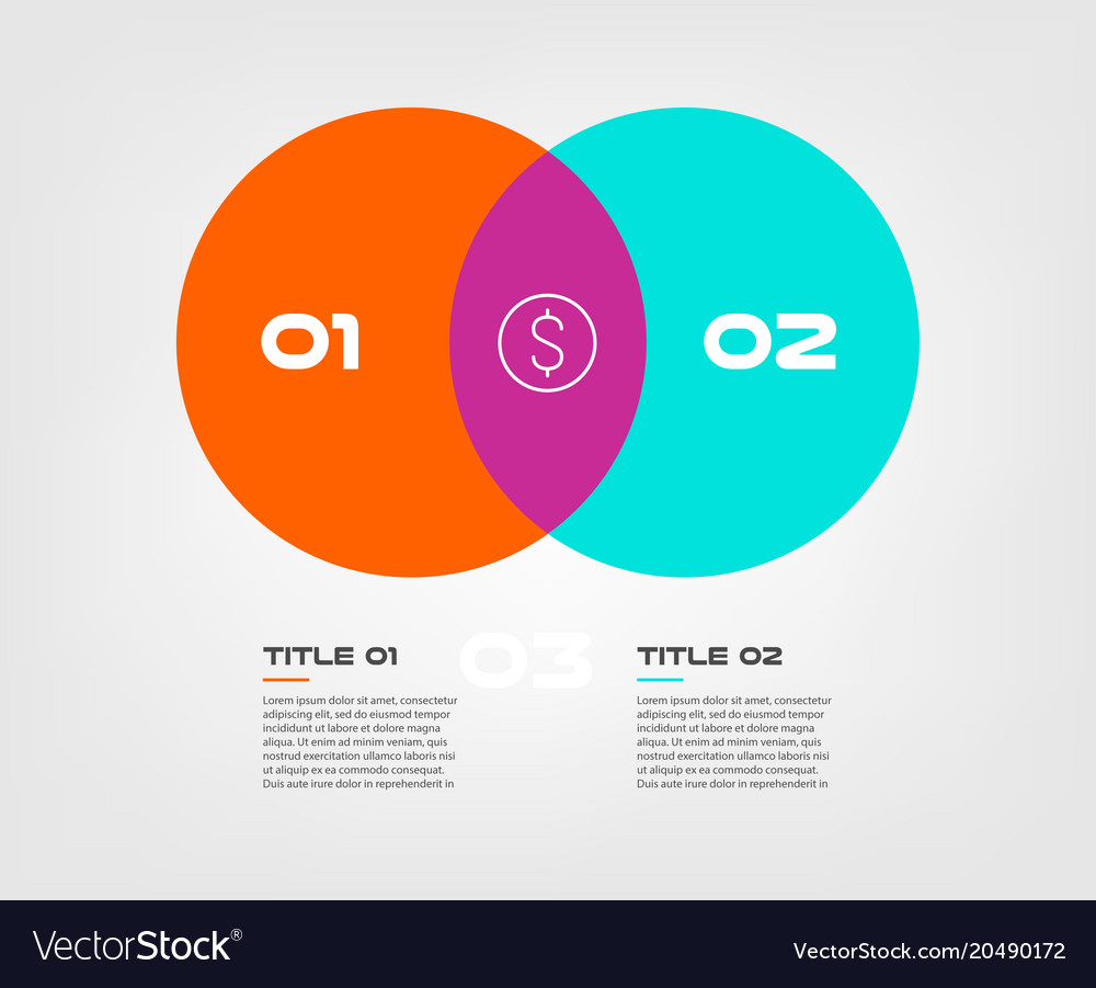 Venn diagram design all kind of wiring diagrams venn diagram infographics for two circle design vector image rh vectorstock com venn diagram drawing tool ccuart Gallery