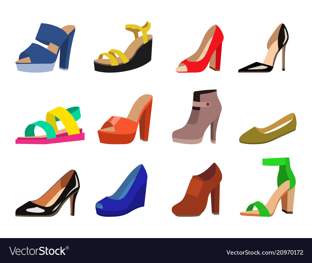 Womens shoes flat fashion design collection