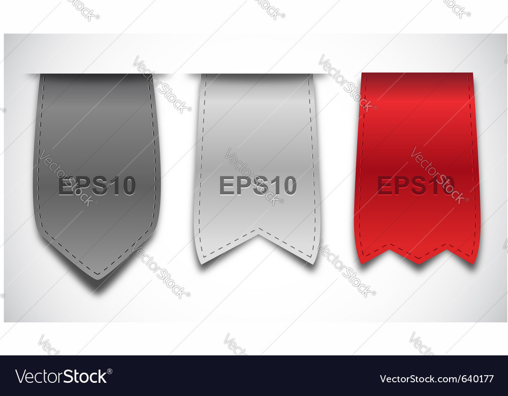Bookmarks - ribbons vector image