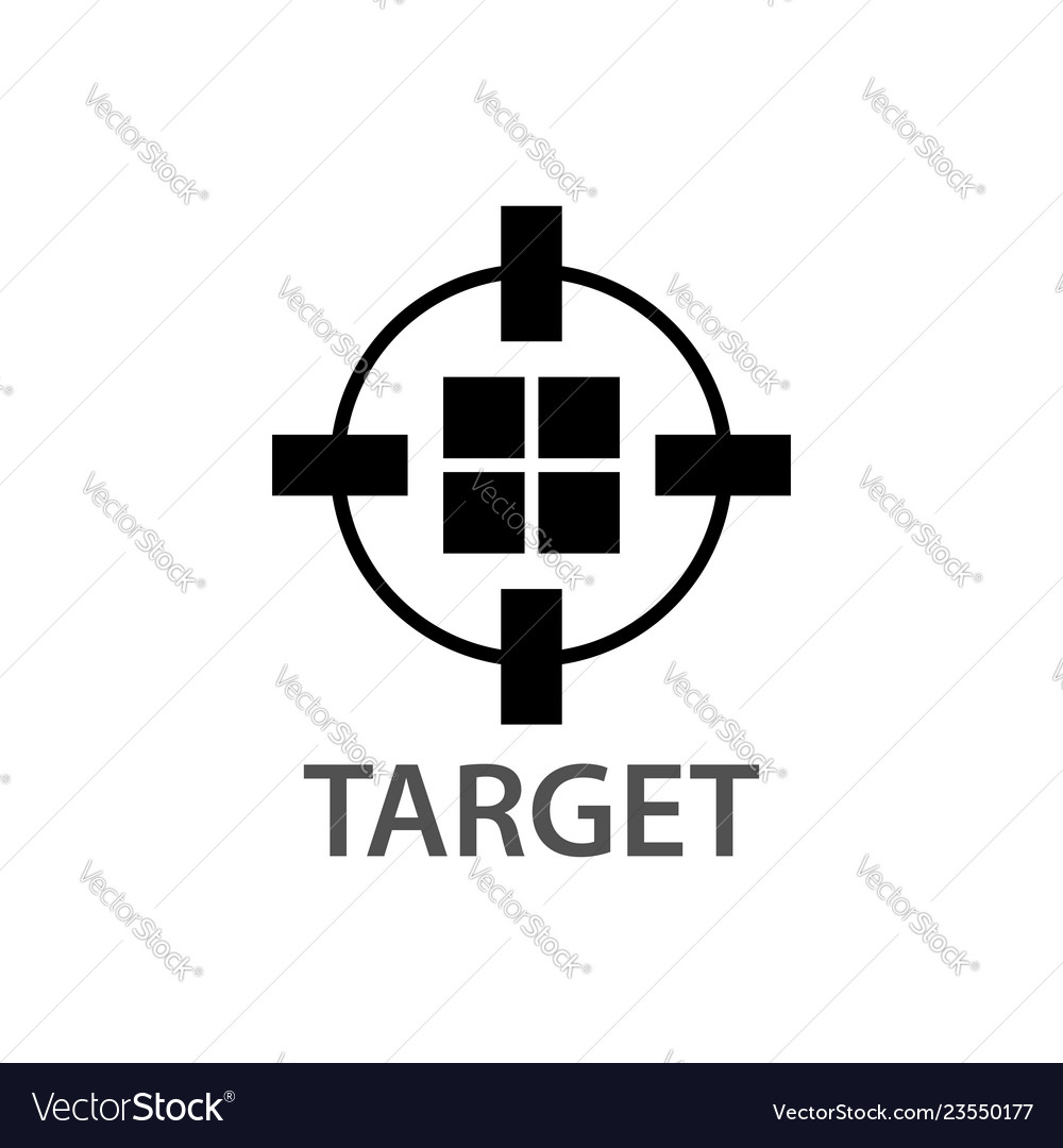 Circle block target logo concept design symbol