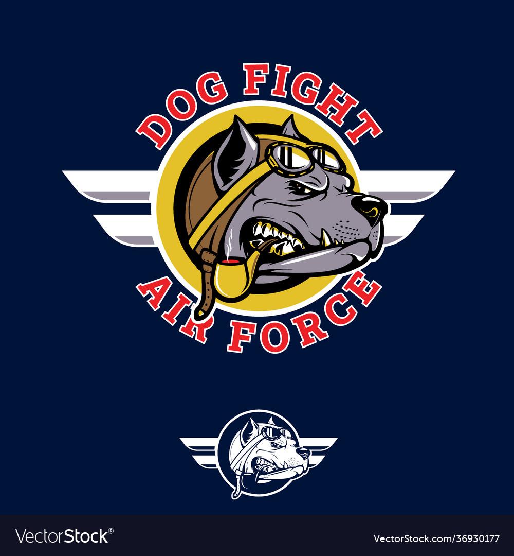 Dog fifght insignia pilotbull wwii nose art