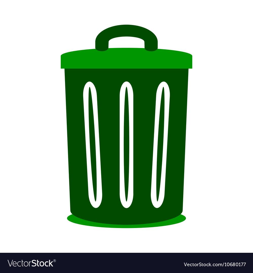 Garbage symbol icon on white vector image
