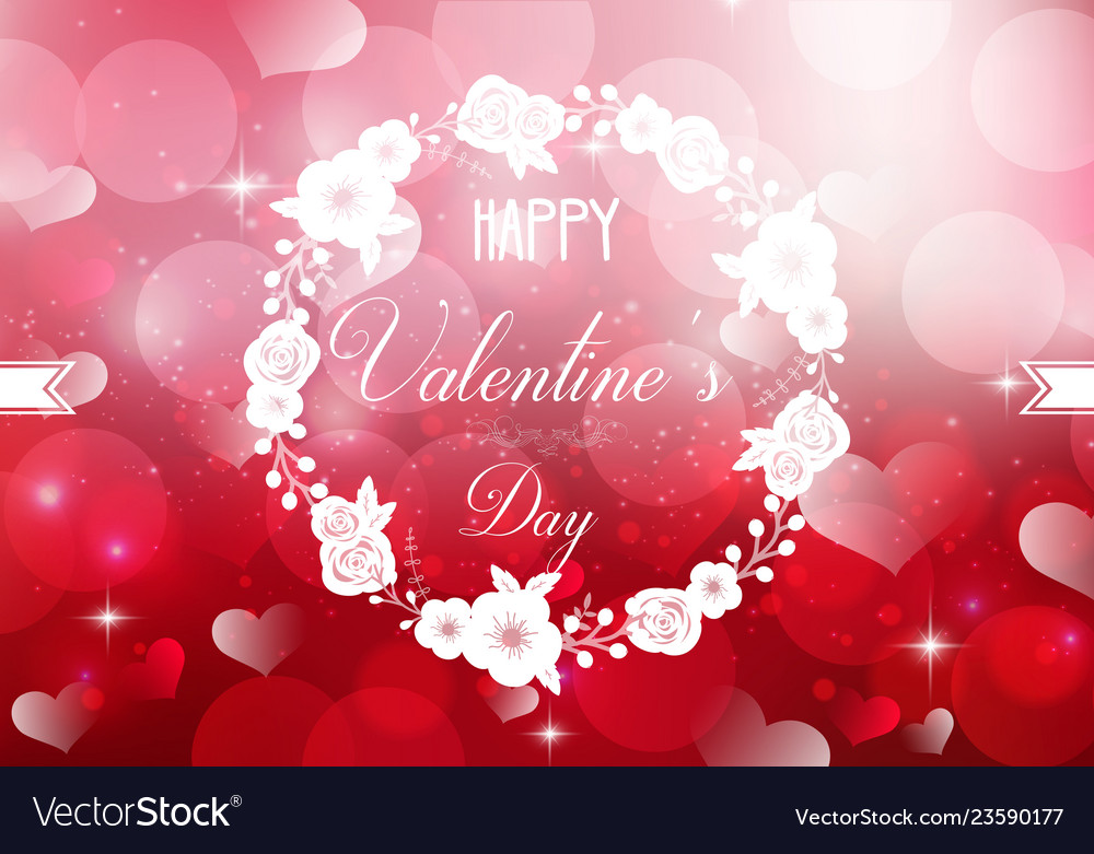 Happy valentines day on a sparkle background