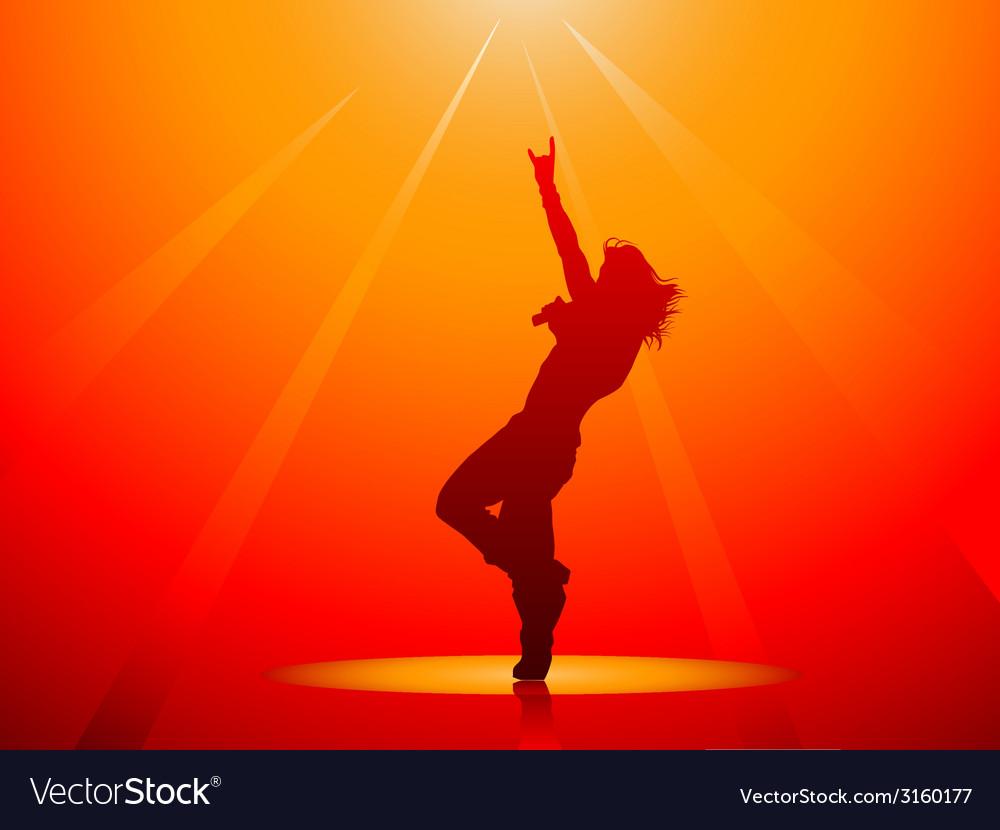 Hard rock singer vector image