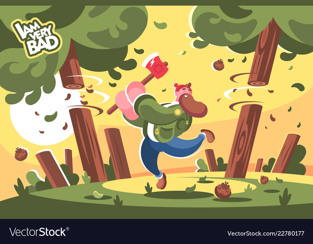 Cartoon Cutting Down Trees Vector Images 59 Choose from 91000+ cutting down trees graphic resources and download in the form of png, eps, ai or psd. vectorstock