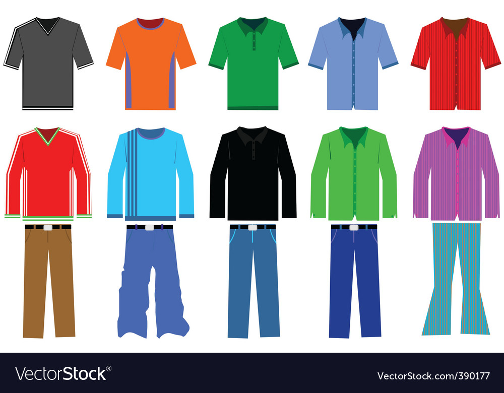 Men's clothing vector image
