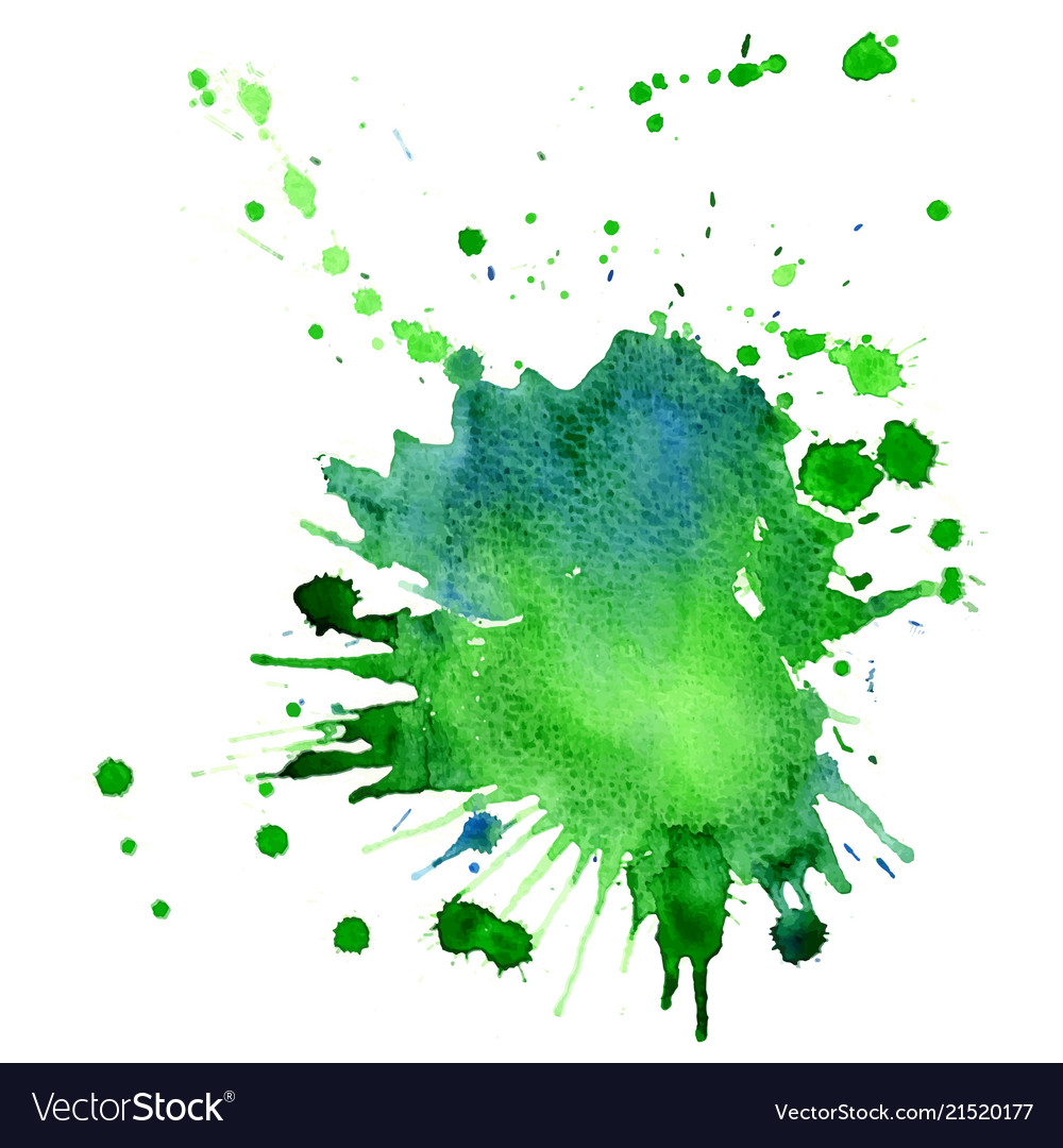 Single Big Green Blue Watercolor Splash Royalty Free Vector 2020 popular 1 trends in home & garden, men's clothing, women's clothing, cellphones & telecommunications with watercolor splash and 1. vectorstock