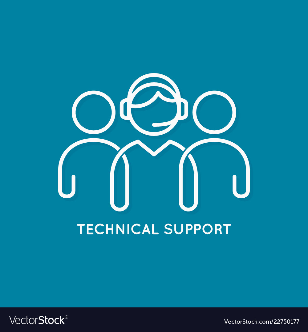 Technical support line concept call center icon