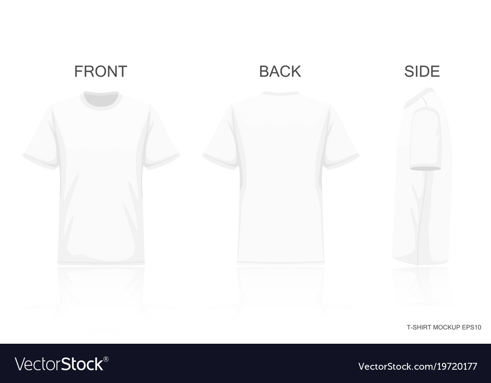 234b2d1bc White t-shirt isolated on gray background front Vector Image